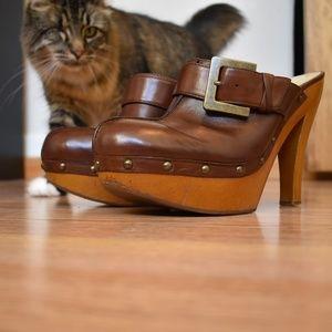 Size 8.5 Enzo Angiolini platform mules